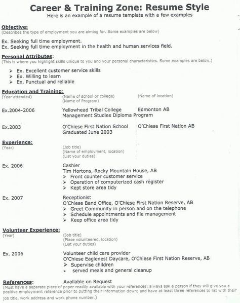 Resume Examples Banking Resume examples - daycare resume