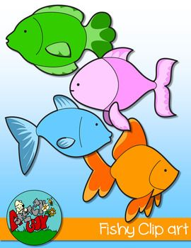Fishy Clip Art Free Included Are 8 Color And 8 Black And White Black Lined Transparent 16 Items Total To See Som Clip Art Freebies Clip Art Fish Clipart