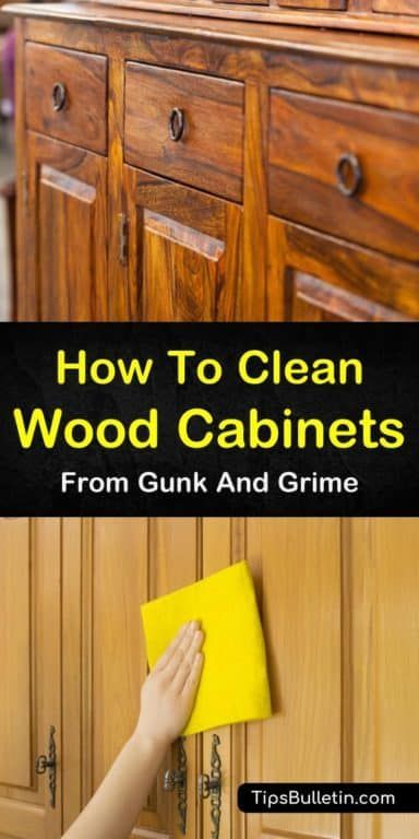7 Easy Effective Ways To Clean Wood Cabinets In 2020 Cleaning