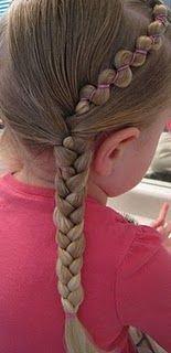 Love the extra little ric rac look.  #braids