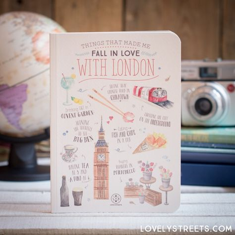 Libreta Lovely Streets - Things that made me fall in love with London (ENG) - Mr. Wonderful