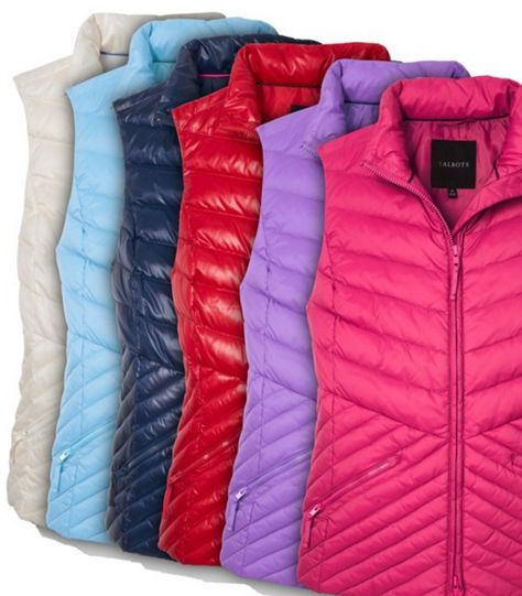 Cozy chevron puffer vests