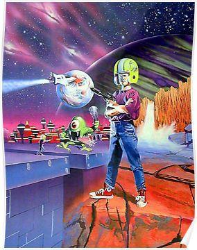 Commander Keen Retro Dos Game Fan Print Poster By Hangman3d In 2021 Poster Prints Poster Poster Art