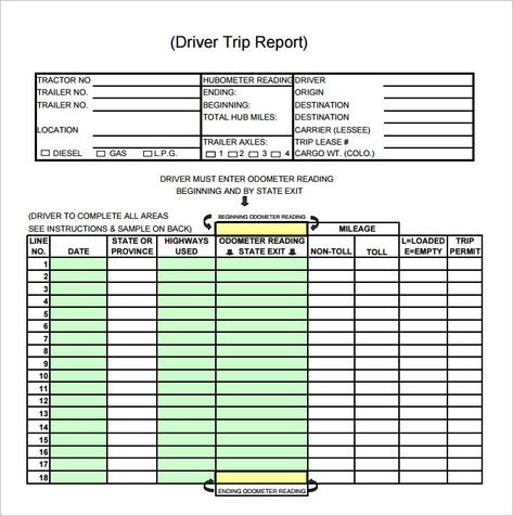 Sales Trip Report Template Word 8