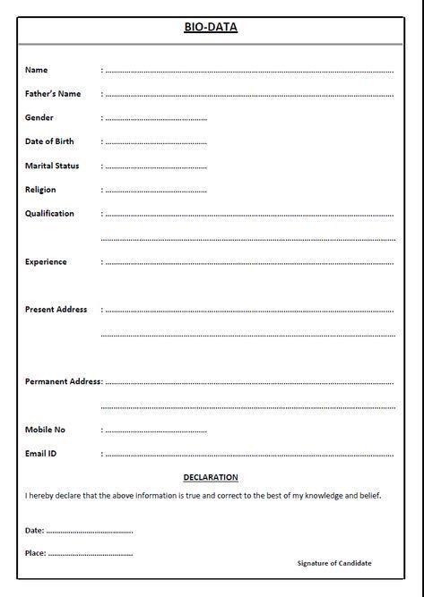 Resume Templates Wordpad Format In 2020 Resume Format Free Download Sample Resume Format Resume Format Download