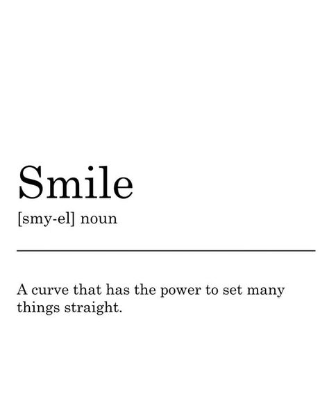 "Smile - A curve that has the power to set many things straight.A fun printable art quote which makes an eye-catching print for your home, or to give as an inexpensive gift. Perfect wall art for any space! Designed with lots of ❤️ and ☕. This listing is for an INSTANT DOWNLOAD of one high resolution JPG of this artwork. No physical item will be sent or mailed.The digital file can be printed at home and framed in an 10"" x 8"" mount (25 x 20 cms) to use yourself or give as a gift. This file is sized"