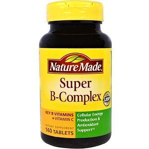 Nature Made Super B Complex With Vitamin C 140 Tablets Vitamins For Energy B Complex Vitamins