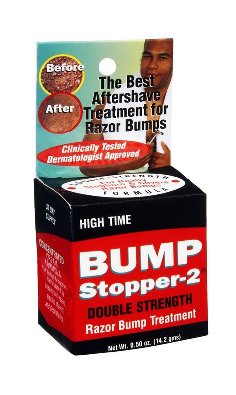 Kiss bumps and ingrown hair caused by shaving with razors, electric shavers and depilatories goodbye with high time bump stopper #bumpstopper #ingrownhair - uhsupply