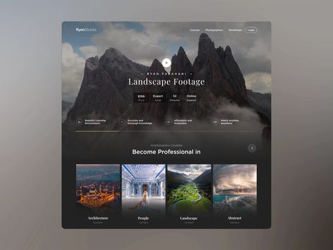 Stock Photo Landing Page by Clay