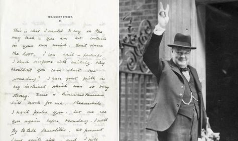 Sir Winston Churchill letter to woman who turned down his marriage - marriage proposal letter