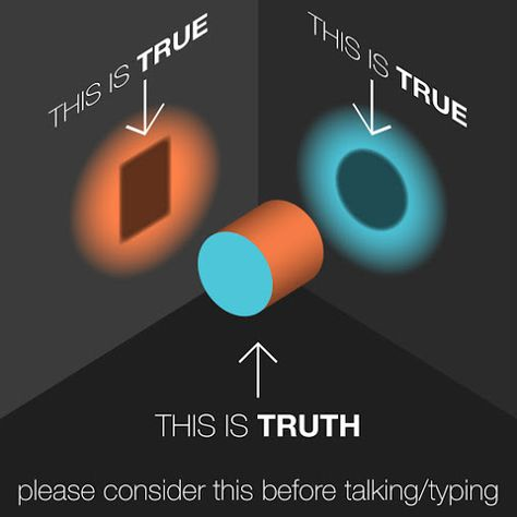 """""""This is True; this is Truth"""" There is always another side to the story, tied just as much to someone else's  feelings, experiences and perception."""