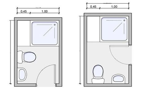Popular small bathroom layout floor plans 8x8 Ideas