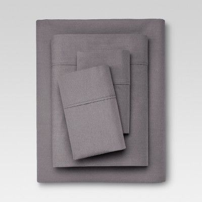 300 Thread Count Organic Cotton Solid Sheet Set Threshold Organic Sheet Set Organic Cotton Sheets Sheet Sets Queen