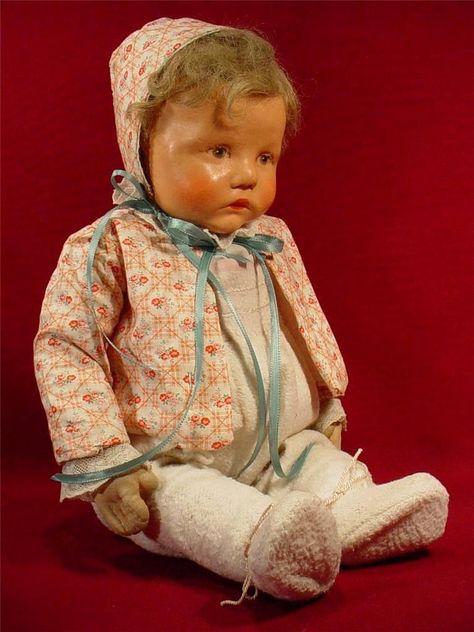 "Darling Vintage Kathe Kruse 20"" Baby Doll Cloth Body German Germany | eBay"