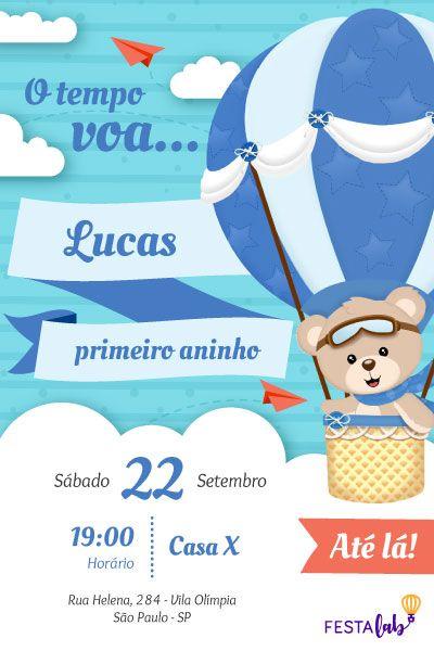 Convite Urso Baloeiro para editar