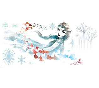 Frozen Ii Watercolor Elsa Peel And Stick Giantwall Decals Qvc Com Frozen Bedroom Frozen Bedroom Decor Frozen Wallpaper