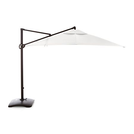 10 Foot Oversized Patio Umbrella Reviews Crate And Barrel Cantilever Umbrella Outdoor Patio Umbrellas Patio Umbrellas