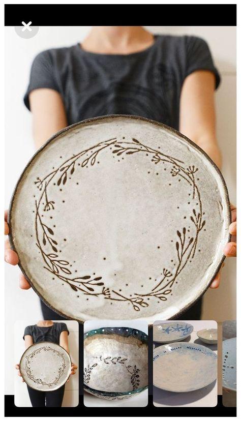 Pottery Plates, Slab Pottery, Pottery Mugs, Pottery Clay, Thrown Pottery, Pottery Studio, Pottery Painting Designs, Pottery Designs, Pottery Ideas