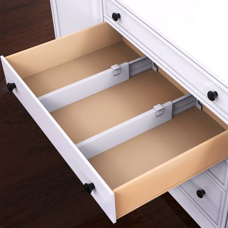 Expandable Drawer Divider And Organizer Set Of 2 Adjustable Household Separators For Kitchen Dresser Bedroom Bathroom And More By Lavish Home Walmart Com Kitchen Drawer Dividers Drawer Divider Drawer Dividers