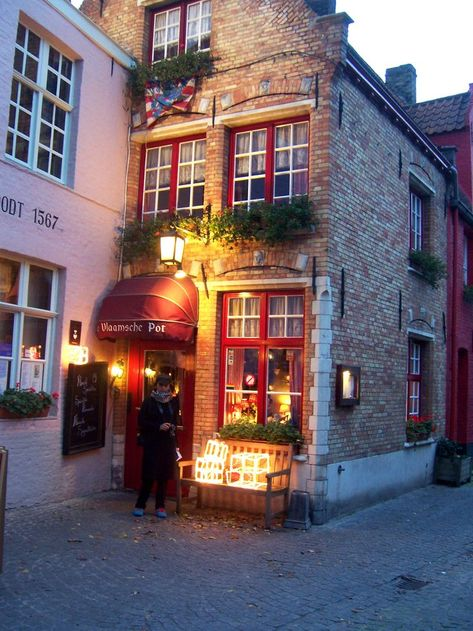 Came across this restaurant in Bruges it was a great place and perfect for the winter night. Flemish beef stew and a fire place! no words can really describe it. Opens only Thursdays to Sunday apparently BK Oh The Places You'll Go, Great Places, Places To Travel, Beautiful Places, Places To Visit, Europa Tour, Excursion, Architecture, Travel Inspiration