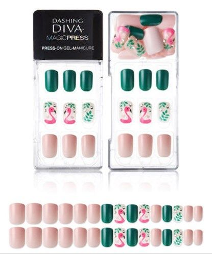 New And Rare Dashing Diva Manicure Magic Press Nails Dashing Diva Nails Flamingo Nails Impress Nails Nails