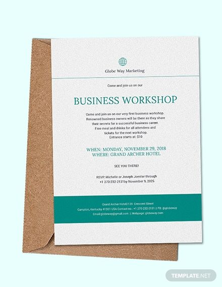 Entice Potential Clients To Attend Your Business Workshop This Business Invitation T Business Events Invitation Business Invitation Dinner Invitation Template