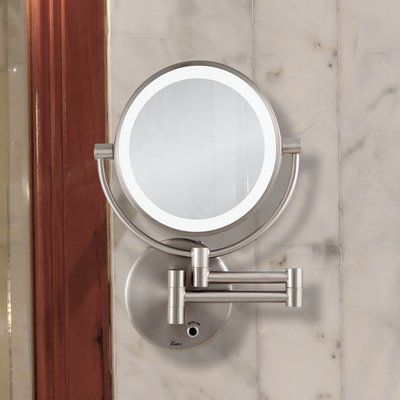 Symple Stuff Verdell Howell Modern Contemporary Beveled Lighted Magnifying Wall Mount Mirror Wayfair In 2020 Mirror Round Mirror Bathroom Wall Mounted Mirror