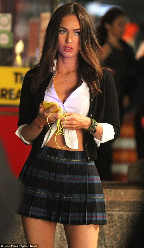 Megan Fox channels Britney Spears One More Time on set of TMNT 2