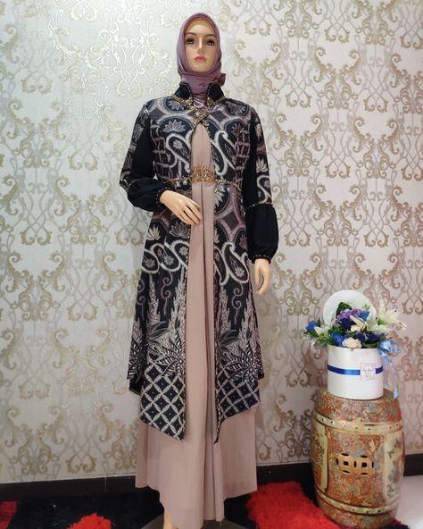 100 Gamis Batik Ideas Batik Dress Batik Fashion Hijab Fashion