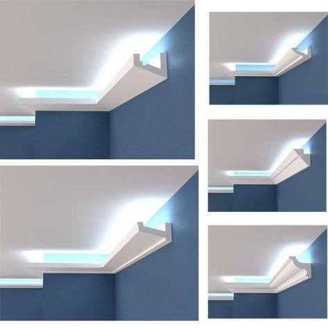Polystyrol Stuckleiste Lichtprofile Led Indirekte Beleuchtung Hartschaum 2m 12m Mob Beleuchtung Wohnzimmer Decke Indirekte Beleuchtung Beleuchtung Wohnzimmer