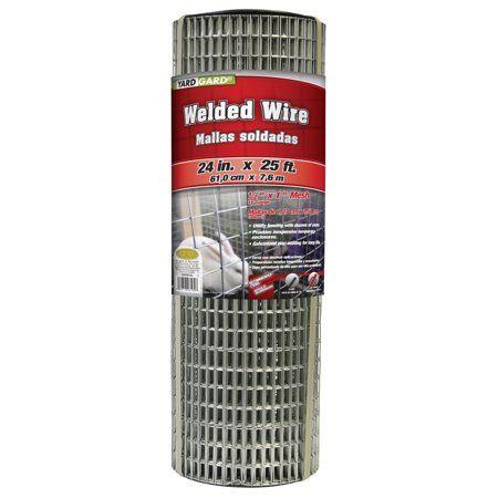 Yardgard 24 Inch By 25 Foot 16 Gauge 1 2 Inch By 1 Inch Mesh Galvanized Welded Wire Walmart Com Basket Lighting Welded Wire Fence Mesh Fencing