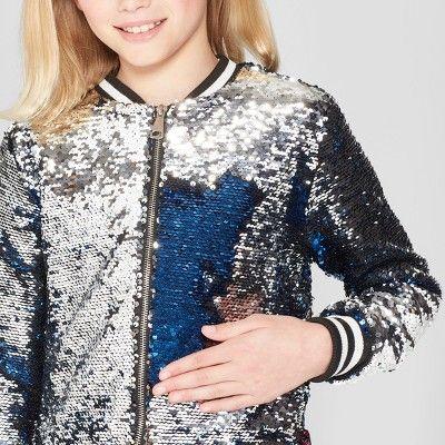 Sequined Blazer Child Jacket Silver