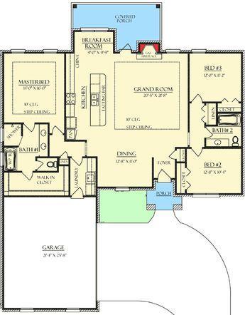 Amazing Sightlines 37208tc Floor Plan Main Level New House Plans Barndominium Floor Plans Floor Plans