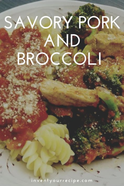 Quick and Simple Pork Recipe with Red Sauce. Sauteed pork slices with garlic and broccoli. A super easy and quick meal great for a weeknight dinner. #porkrecipes | #porkfordinner | #simplerecipe | #easyrecipe