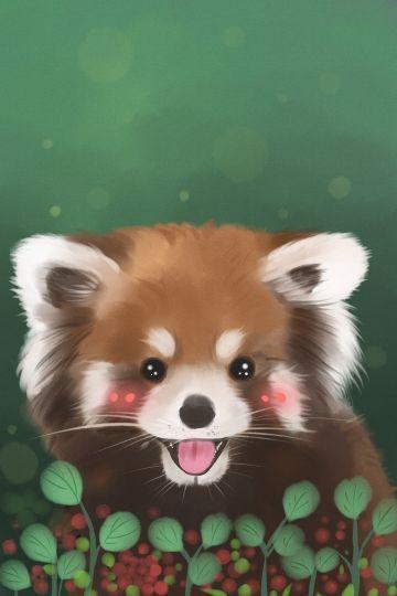 Cute Pet Animal Little Panda Moe Drawn Cute Pet Animal Illustration Image On Pngtree Free Download On Pngtree Cute Animal Drawings Cute Drawings Kawaii Drawings