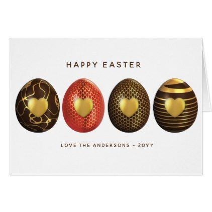 Custom Happy Easter Card Eggs Brown Gold Ornate Zazzle Com Happy Easter Card Holiday Design Card Easter Cards