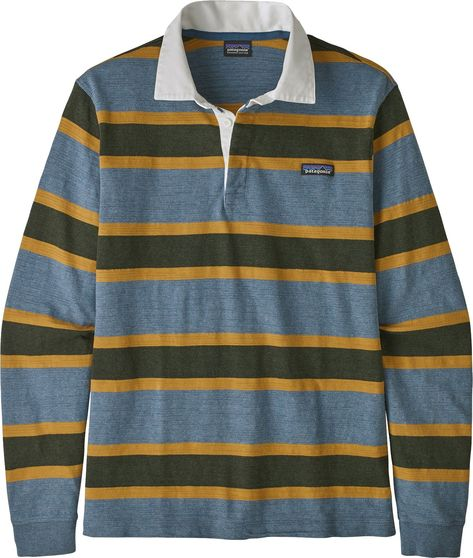 "<section class=""productDescription""><div class=""product-component""><p>Sport retro vibes on a casual day in the Patagonia® Men's Rugby Lightweight Long Sleeve Shirt. The vintage inspired stripes and collared neckline add a touch of flair to your everyday wardrobe. Constructed with comfortable organic cotton and Fair Trade Certified™ sewn so you can wear this piece with pride. </p></div><div class=""product-component""><h3>Fit:</h3><UL><LI>Men's long sleeve shirt </LI><LI>Collared neckline Mens Flannel Shirt, Twill Shirt, Mens Rugby Shirts, Shirt Men, Tailored Shirts, Casual Shirts For Men, Shirt Sleeves, Long Sleeve Shirts, Sun Shirt"