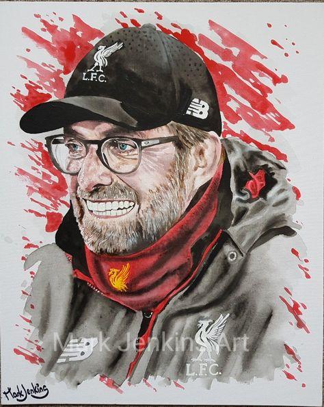 Jurgen Klopp - Liverpool manager artwork