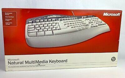 Microsoft Natural Multimedia Keyboard 1 0a Ps 2 Ps2 Vintage In 2020 Computer Keyboard Computer Keyboard