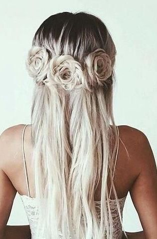 20 Rose Braid Hairstyles You Will Love In 2019 Who Does Not Love Flowers Prepare Yourselves To These Prettiest Hair Styles Long Hair Styles Hair Inspiration