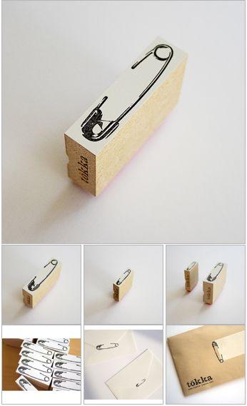 safety pin stamp tokka-japan.net
