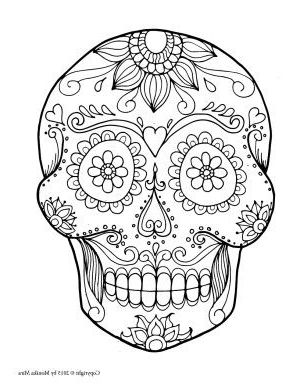 Free Printable Sugar Skull Coloring Pages Skull Coloring Pages Skull Template Sugar Skull Drawing