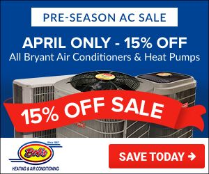 15 Off Of All Air Conditioners If You Purchase Before The End Of The Month Act Now This Deal Bryant Air Conditioner Heating And Air Conditioning Air Heating