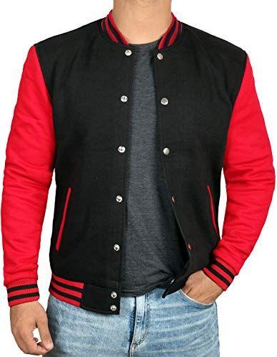 Best Seller Black Red Letterman Jacket Men High School Varsity Mens Baseball Jacket Online Trendyclothingonline Baseball Jacket Varsity Jacket Men Mens Jackets