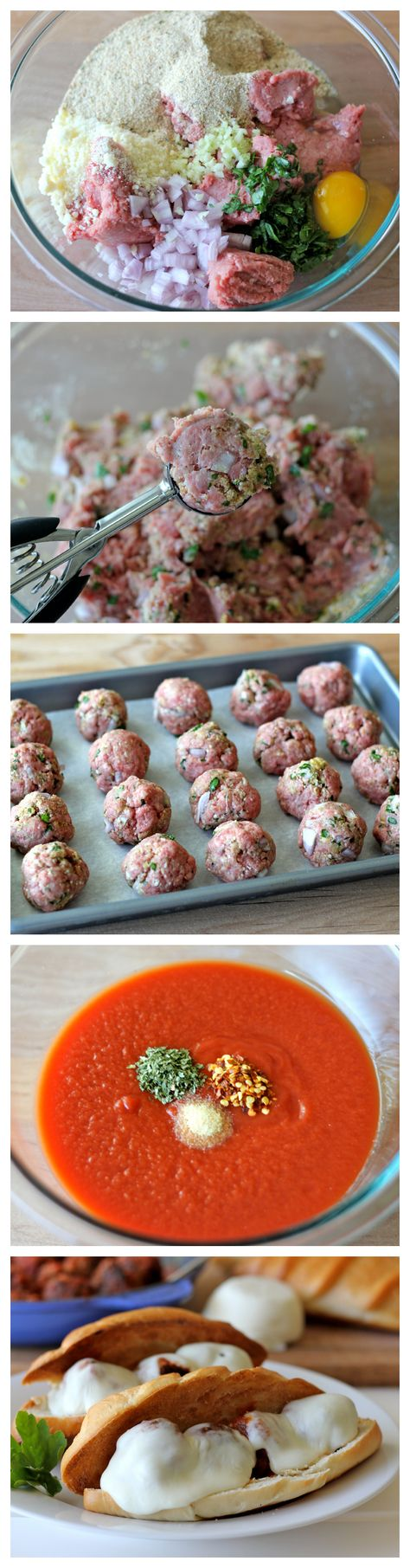 Italian Meatball Sandwiches - The best meatball sub that you can make right at home with an easy homemade marinara!