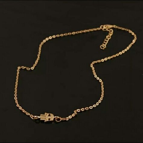 Hamsa fatima gold tone necklace Brand new, 18 inches, gold tone  $8on merc including shipping Jewelry Necklaces