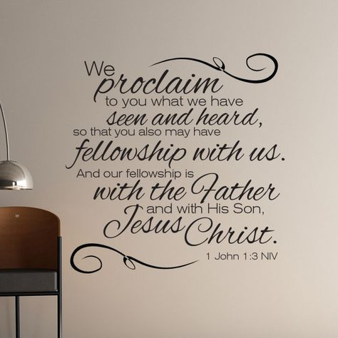 1 John 1:3 scripture wall art | Divine Walls