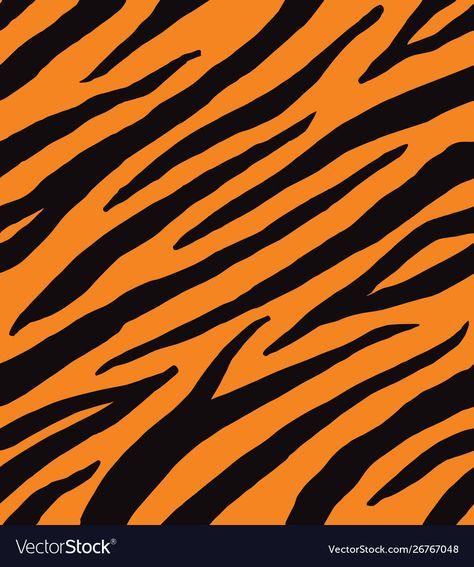 Seamless pattern black tiger print vector image on VectorStock