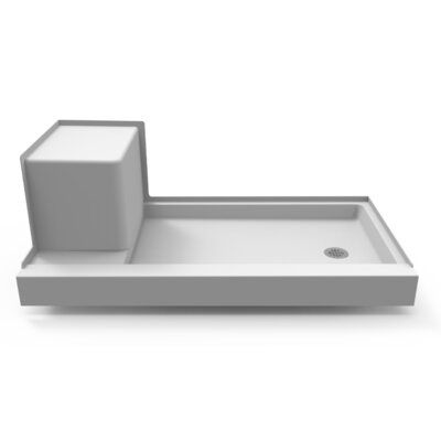 Jacuzzi Seated Left Drain 32 X 60 Shower Base Drain Location