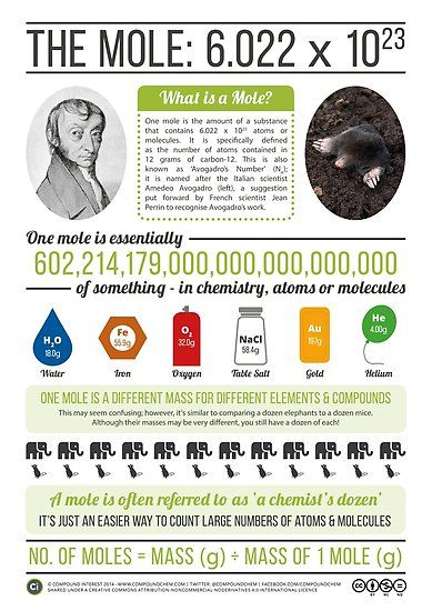 Buy 'Avogadro & The Mole' by Compound Interest as a Poster. A summary poster on Avogadro & The Mole.